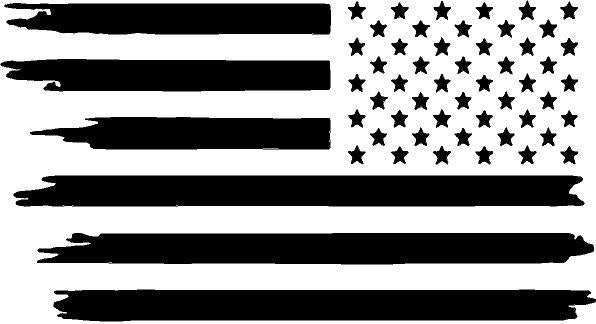 Invert distress   USA   flag   flag decal / sticker / graphics - OGRAPHICS
