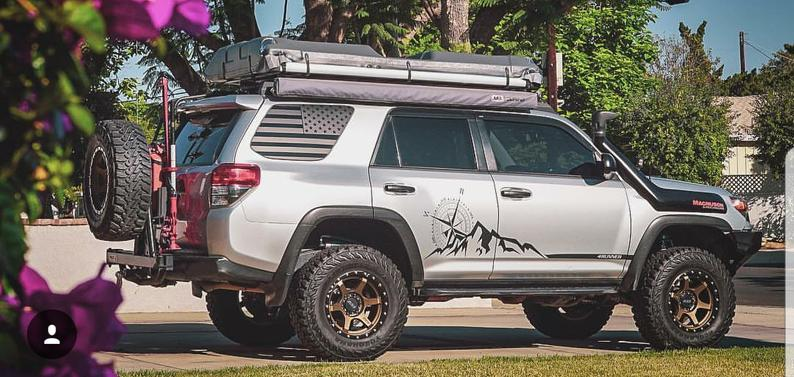 Toyota 4runner mountain compass  graphics 4runner stripe combo