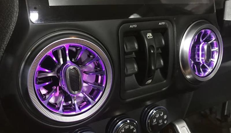 AC Vent with RGB LED Light for Jeep Wrangler