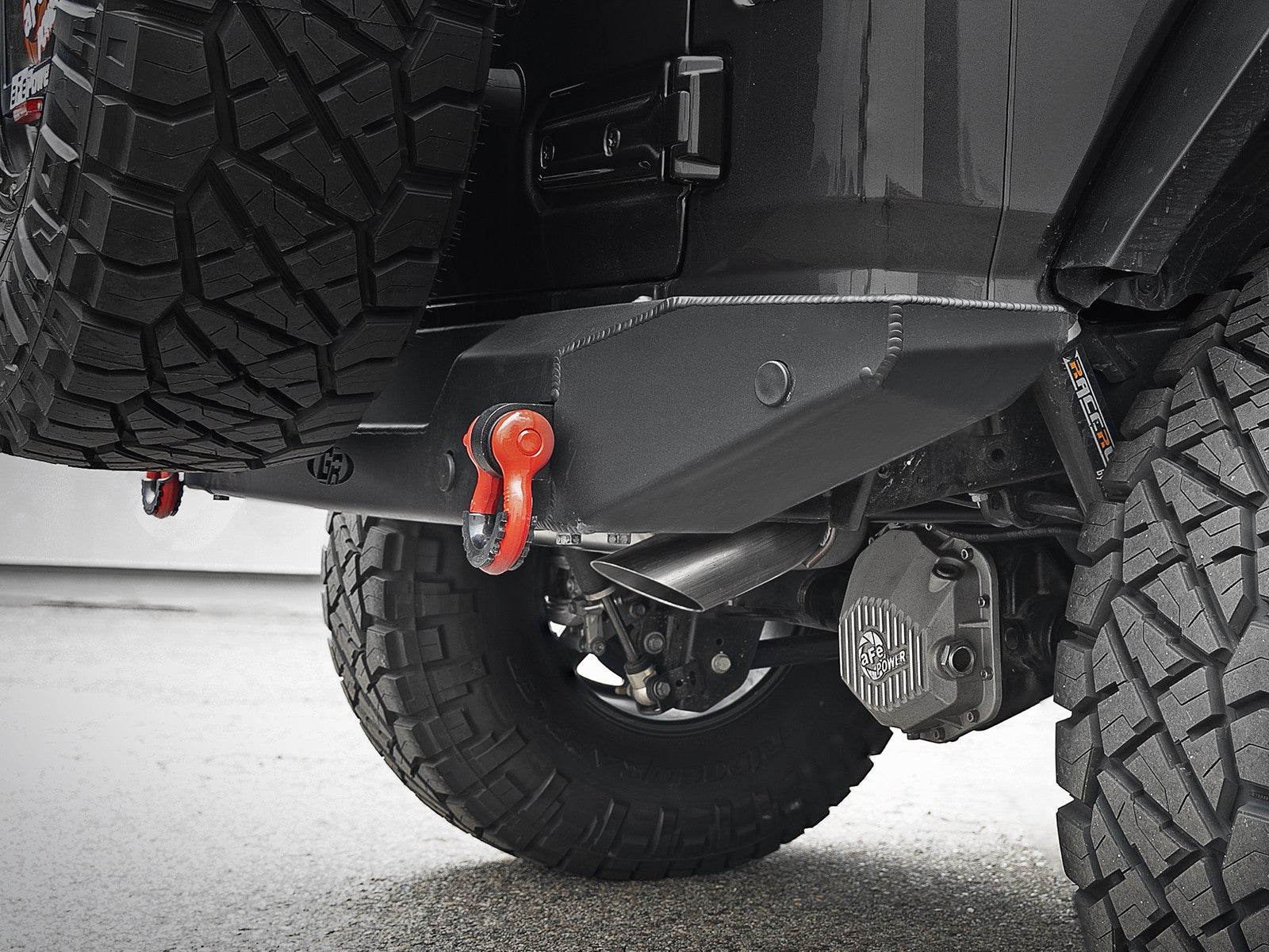 "AFE MACH Force-Xp Hi-Tuck 3"" 409 Stainless Steel Axle-Back Exhaust System for Jeep Wrangler JL/JLU"