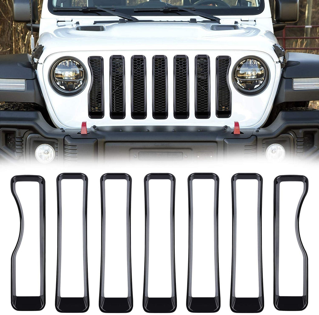Front Grille Insert  Covers Trim for Jeep Wrangler JL/JT