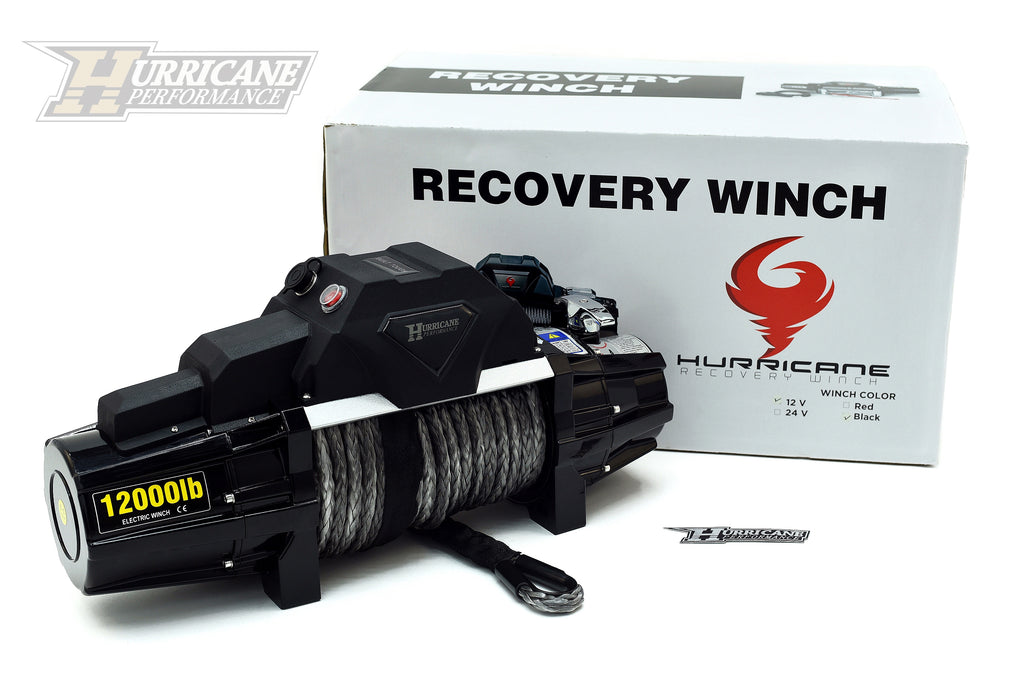 HURRICANE Winch Type X, 12000LB For Jeep Wrangler