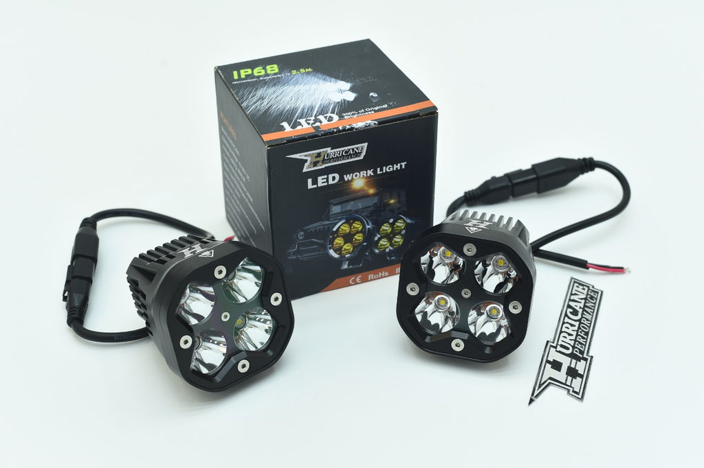 HURRICANE LED CNC SPOT Work Lights for Jeep Wrangler
