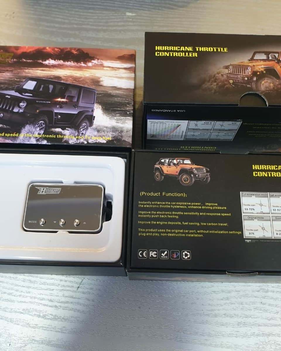 Throttle controller from Hurricane for Jeep Wrangler
