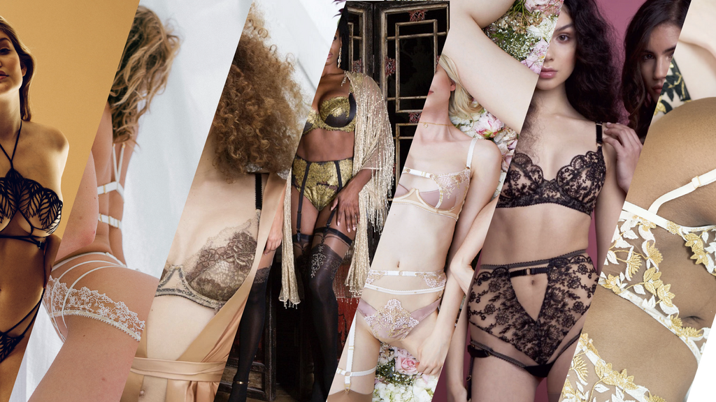 Best lingerie brands according to bloggers, montage of luxury lingerie brands
