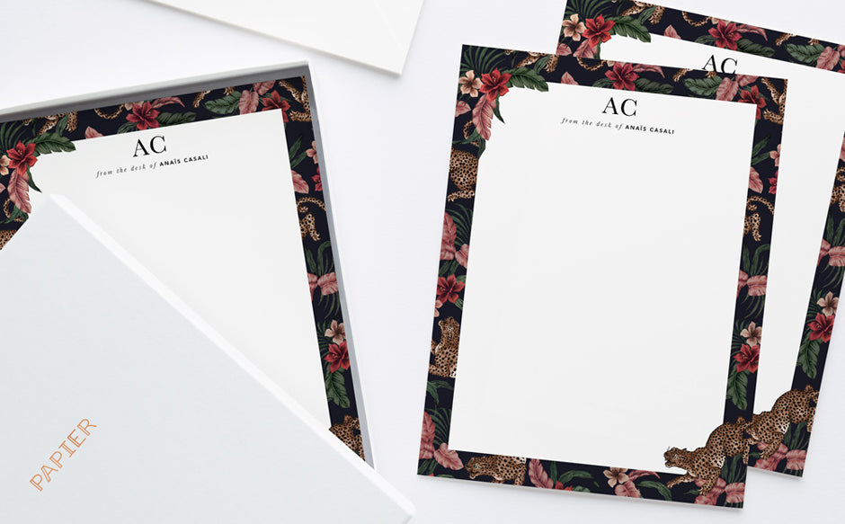 Personalised stationery for a luxury to do list