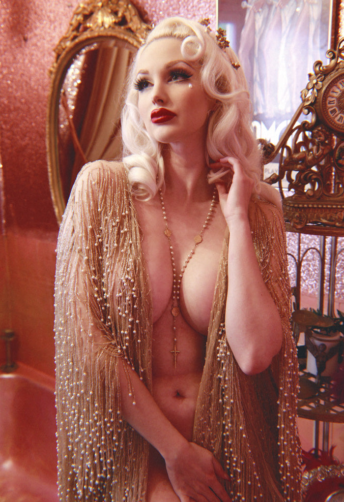 Cassiopeia gold bead dressing gown