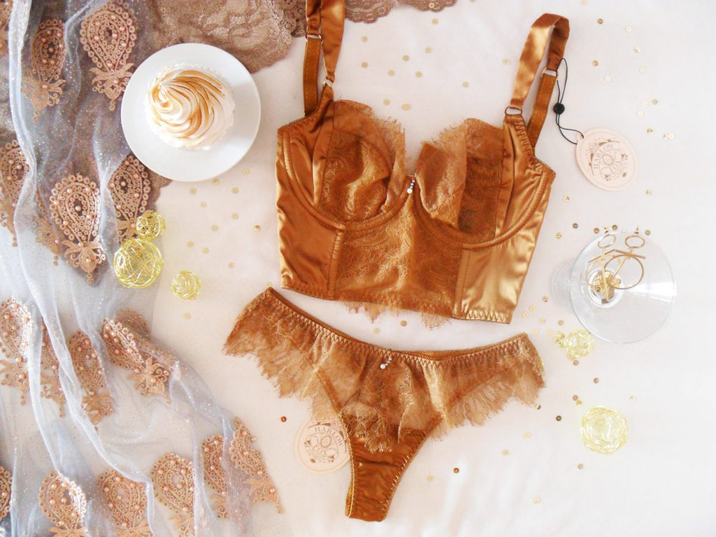 Viola Gold luxury longline DD+ bra review