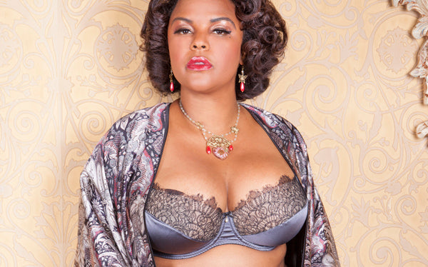 Harlow & Fox luxury full bust silk lingerie, Jenny Rieu collaboration