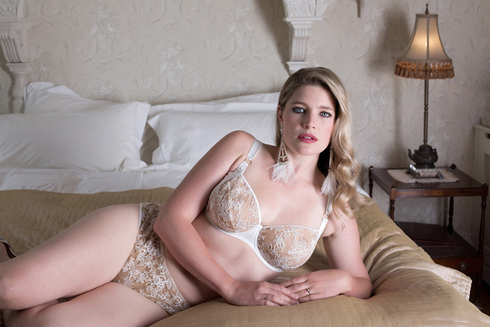 Serena Ivory luxury romantic lingerie set