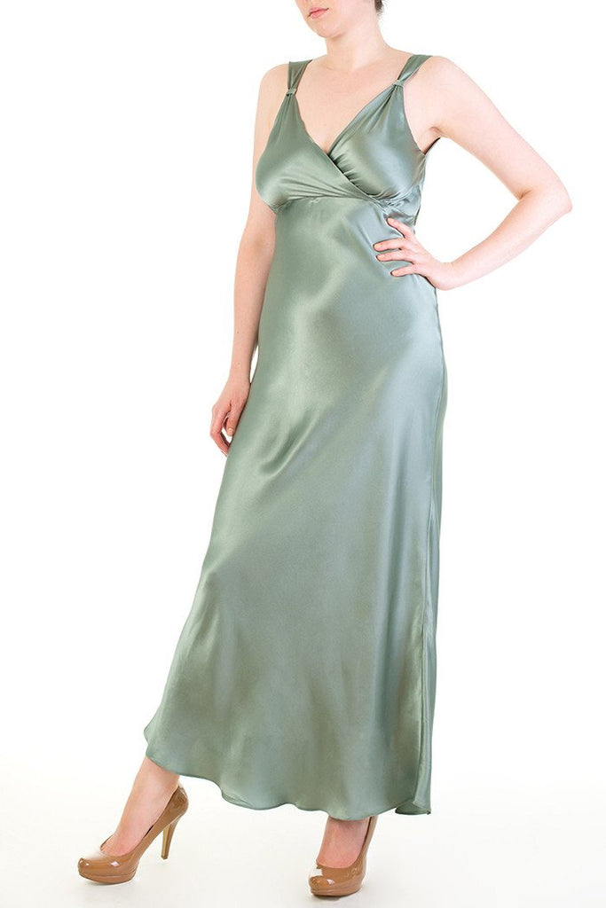 Vivienne Silk Draped Back Gown by Harlow & Fox