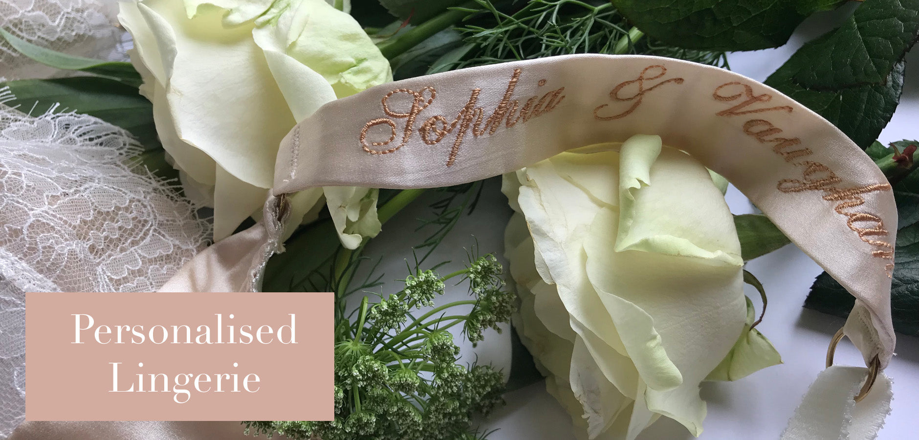 Personalised and custom bridal lingerie