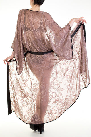 Juliette Hazel Gold Silk Robe