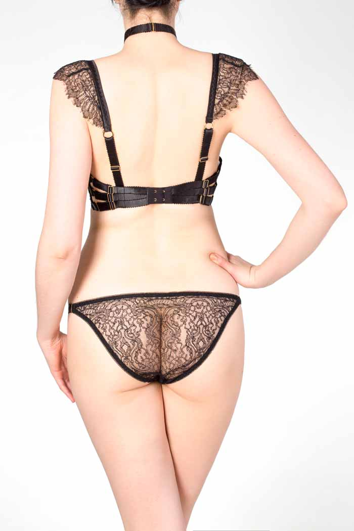 Black Lace Tanga Brief, Karolina Laskowska Collaboration