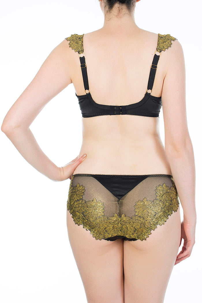 Callista Gold Embroidered Classic Briefs