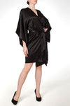 Viola Jet Black Sheer Robe