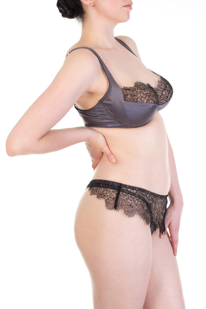 Eleanor Grey full bust delicate lace lingerie