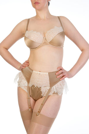 Eleanor Hazel Luxury Silk Suspender Belt