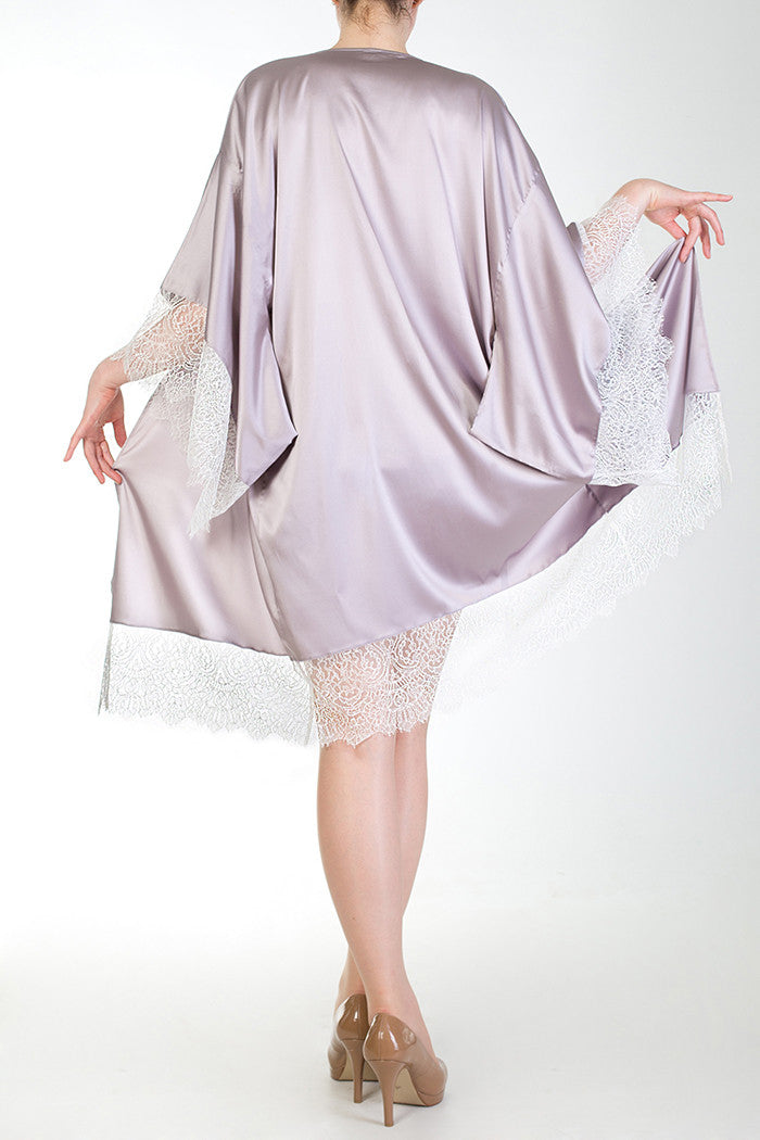 Eleanor Lilac Silk Robe