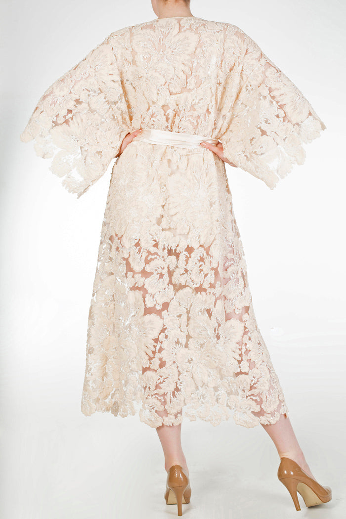 Elisabeth embellished luxury bridal dressing gown