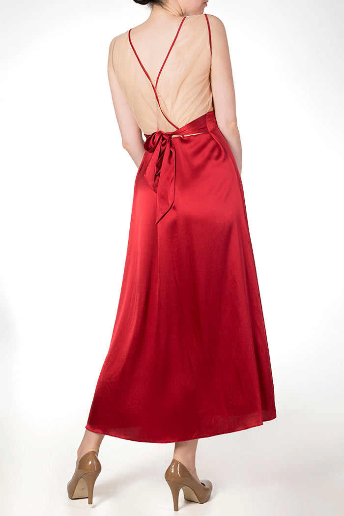 Juliette Draped Back Gown