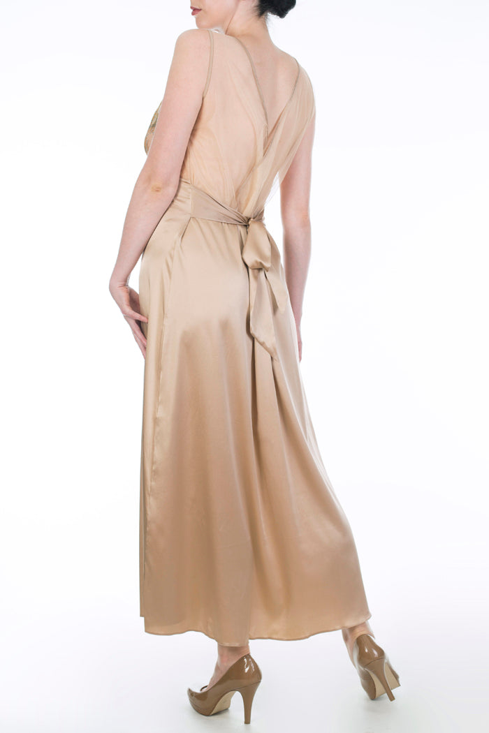 Juliette Hazel Gold Silk DD+ Nightdress