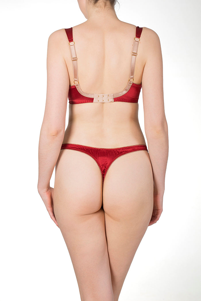 Juliette Red Silk Thong