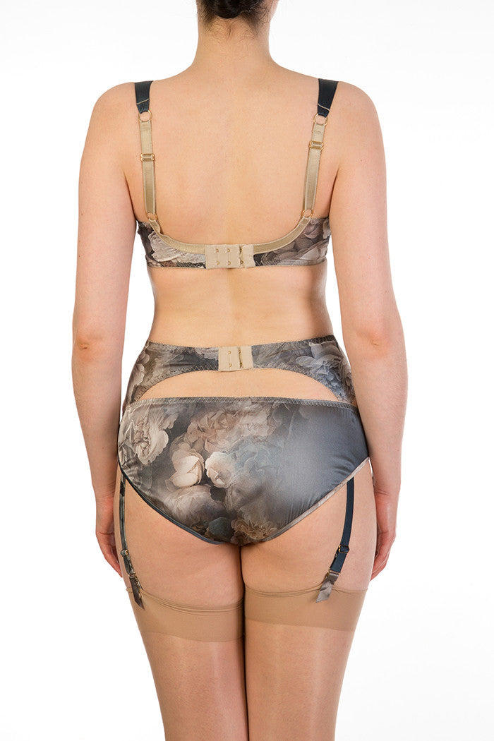 Octavia Luxurious Silk Garter Belt and Lingerie Set