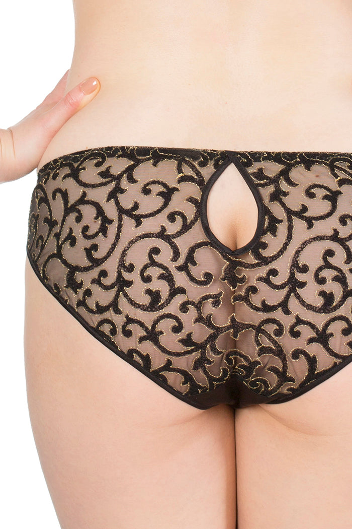 Persephone Keyhole Back Detail Classic Brief