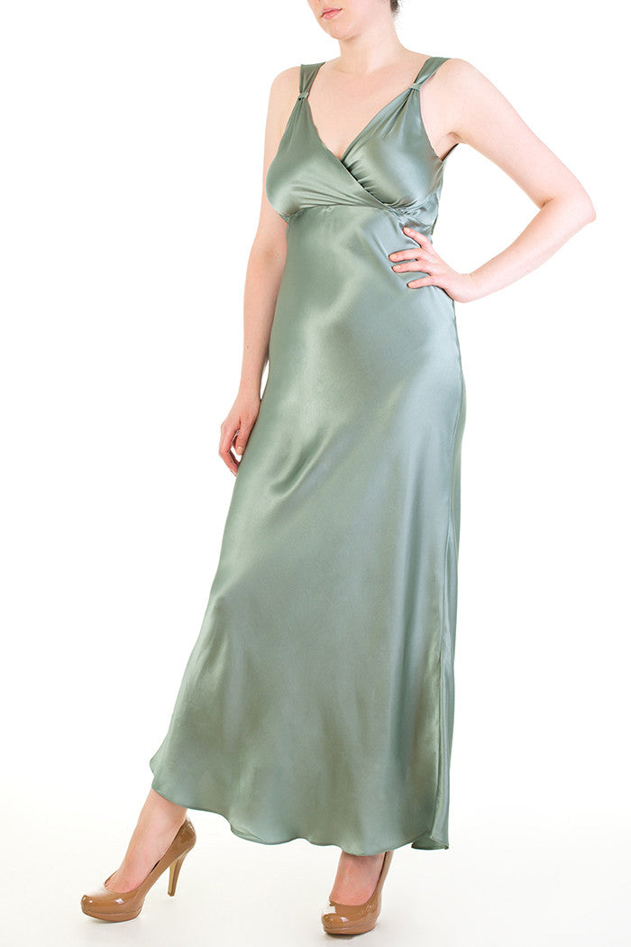 Vivienne Thirties Inspired Silk Gown in Seafoam