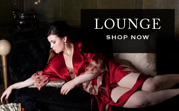 Luxury silk and lace robes, loungewear and dressing gowns