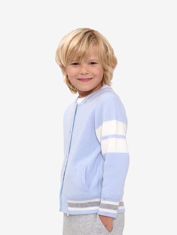 Kid's Mini Blue Edison Cashmere Bomber