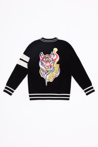 Kid's Black Stay Wild Bomber