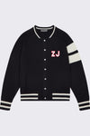 Men's Custom Black Edison Initials Bomber