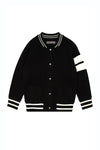 Kid's Mini Custom Black Edison Cashmere Back Embroidery Bomber