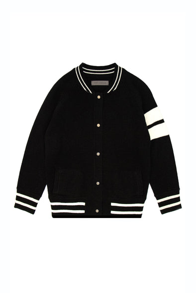 Kid's Mini Black Edison Cashmere Bomber