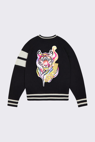 Women's Black Stay Wild Bomber