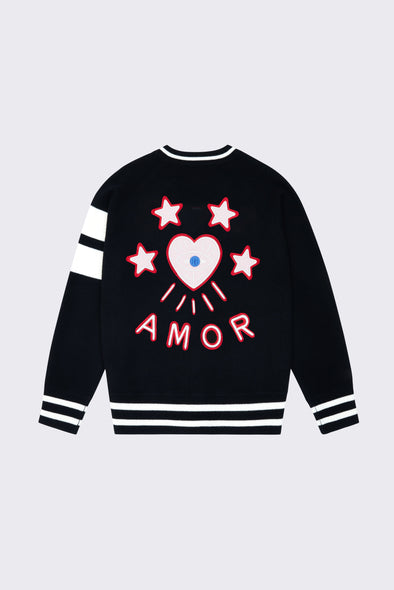 Women's Black Love Bomber