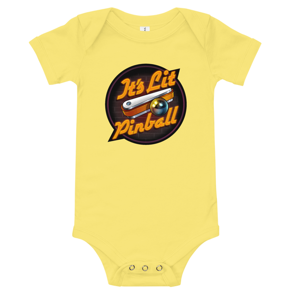 It's Lit Pinball - Baby Onesie - Silverball Swag