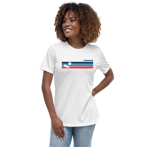 Pinhead Lines - Women's Relaxed T-Shirt - Silverball Swag
