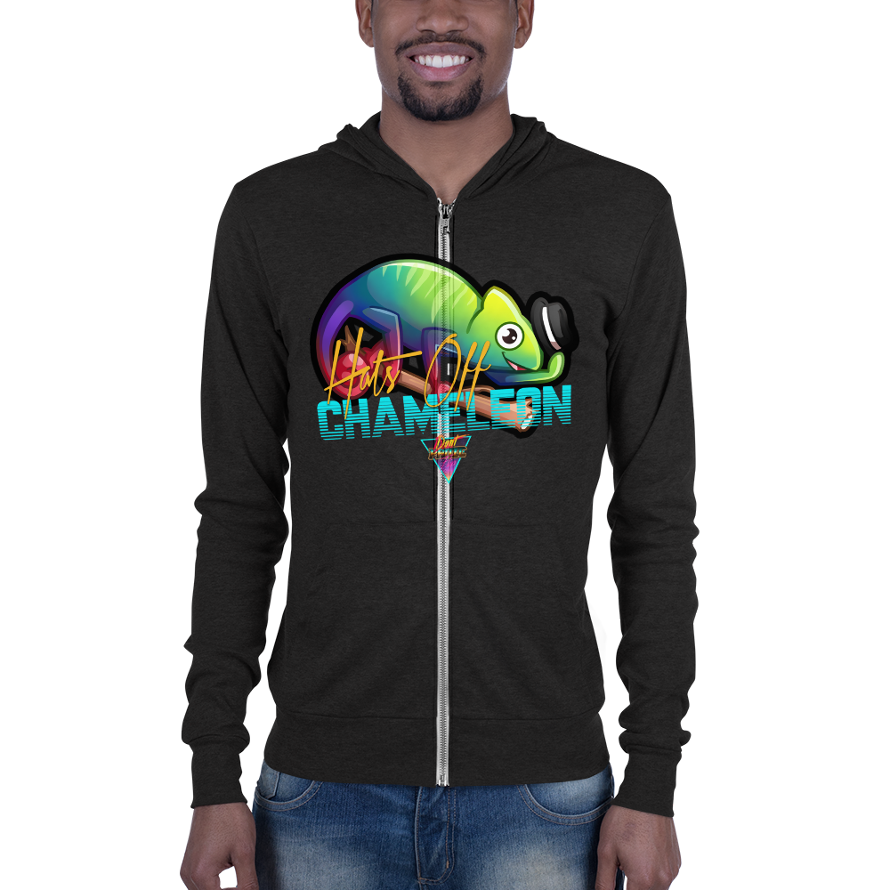 Hats Off Chameleon - Zip Hoodie - Silverball Swag