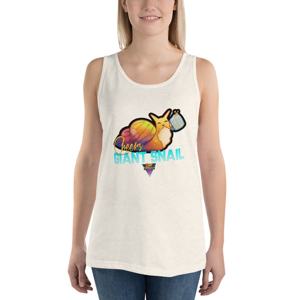 Cheers Giant Snail - Unisex Tank Top - Silverball Swag