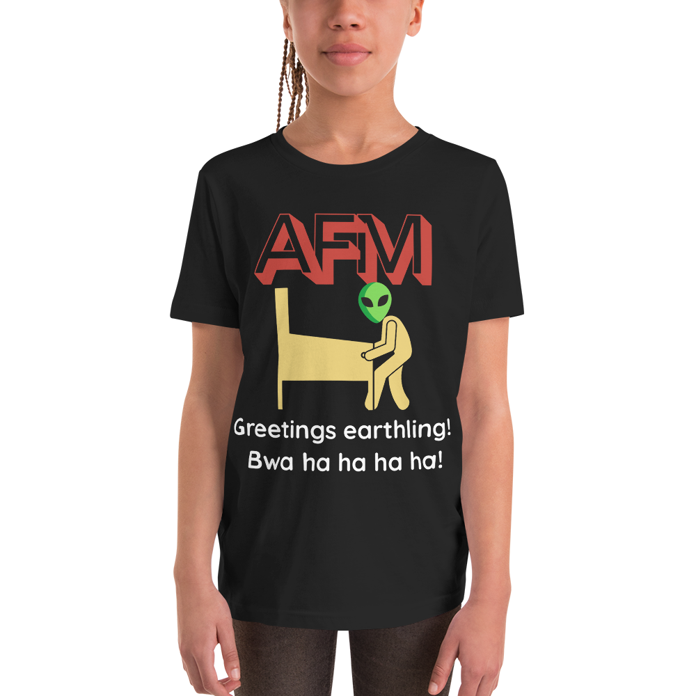AFM w/ Alien - Customizable Youth T-Shirt - Silverball Swag