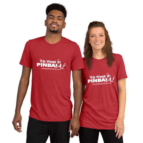 This Week In Pinball Red - Premium Tri-Blend T-Shirt