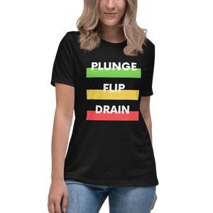 Plunge Flip Drain - Women's Relaxed T-Shirt - Silverball Swag