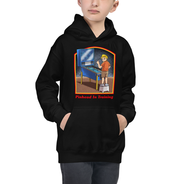 Pinhead In Training - Youth Hoodie - Silverball Swag