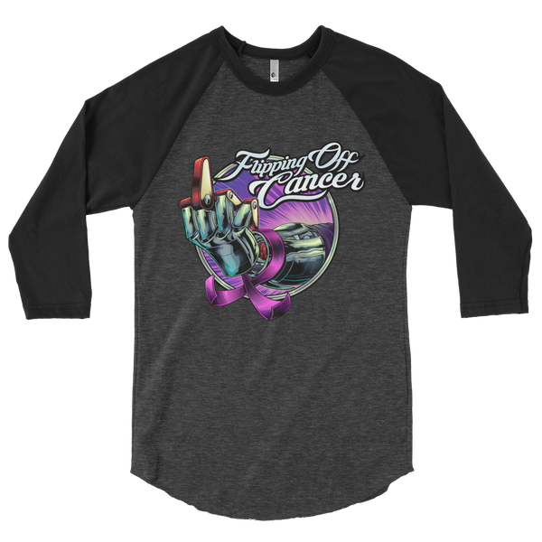 Flipping Off Cancer - 3/4 Sleeve - Silverball Swag