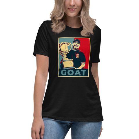 Keith Elwin GOAT - Women's Relaxed T-Shirt - Silverball Swag