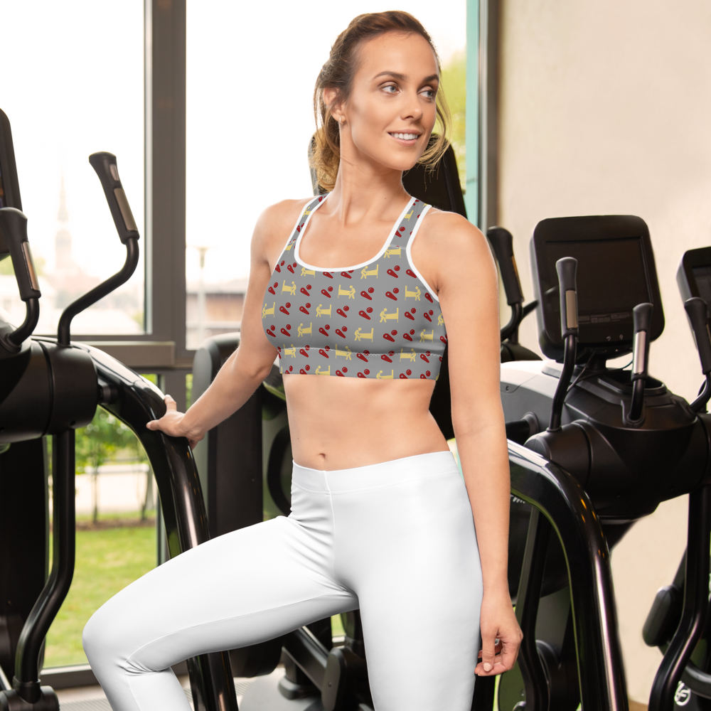 Test Machine and Flippers - Sports bra