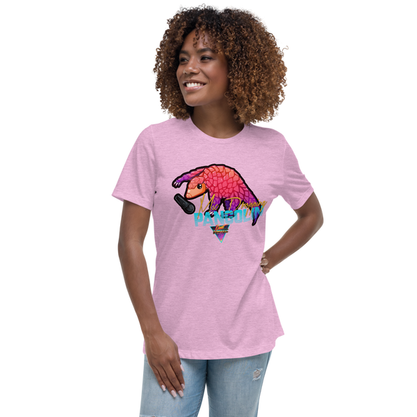 Mic Dropping Pangolin - Women's Relaxed T-Shirt - Silverball Swag
